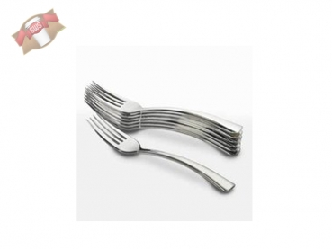 50 Stk. Mini Gabeln Fingerfood Metalloptik 10,5 cm