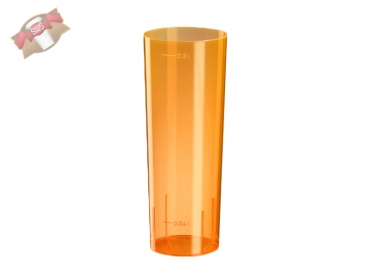 10 Stk. Longdrinkglas 0,3 ltr. orange