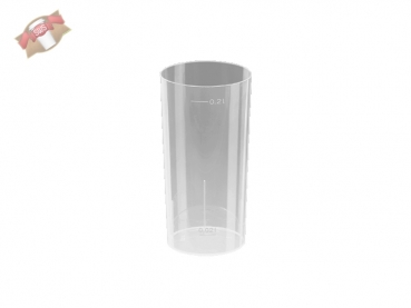 10 Stk. Longdrinkglas Partyglas Cocktailglas 200 ml PP transparent