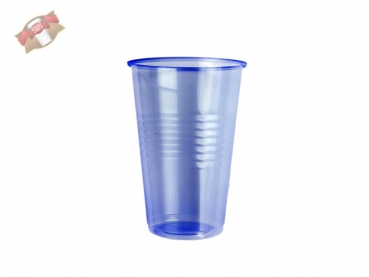 100 Stk. Becher 230 blau transparent