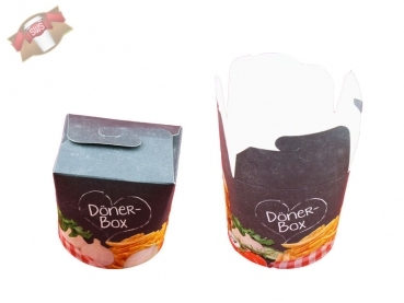 500 Stk. Dönerboxen Dönerbox Faltbox Döner Box Food to go 26 oz 710 ml