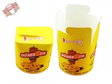 500 Stk. Dönerboxen Dönerbox Faltbox Döner Box Food to go 26 oz 650 ml
