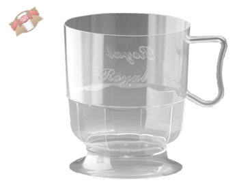 300 Stk. Royal Cup Tasse Kaffeetasse Becher klar 200 ml