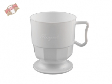 300 Stk. Royal Cup Tasse Kaffeetasse Becher weiß 200 ml