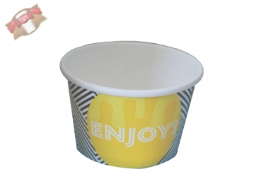"50 Stk. Eisbecher Hartpapierbecher 4 oz 100 / 120 ml ""ENJOY"""