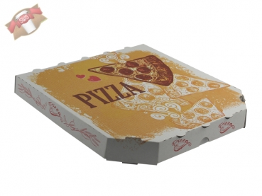 100 Stk. Pizzakarton Pizza Karton Pizzabox to go 26x26x3 cm Pizzakarton Motivdruck