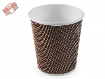 50 Stk. Coffee to go Kaffeebecher Ripple Cup 0,2 l. braun lila