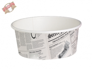 500 Stk. Delikontainer Newsmotiv 480 ml Ø 114 mm Deli Feinkostbecher