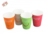56 Stk. Coffee-Cup Motiv Enjoy 16 oz ca. 400 ml