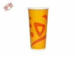 50 Stk. Pappbecher Trinkbecher 500 ml Whizz orange